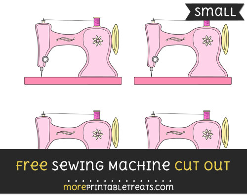 Free Sewing Machine Cut Out - Small Size Printable