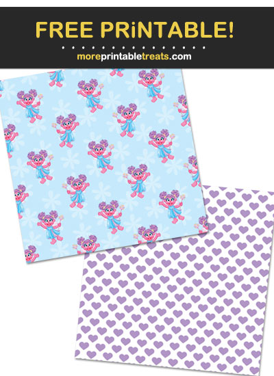 Free Printable Abby Cadabby Scrapbook Papers