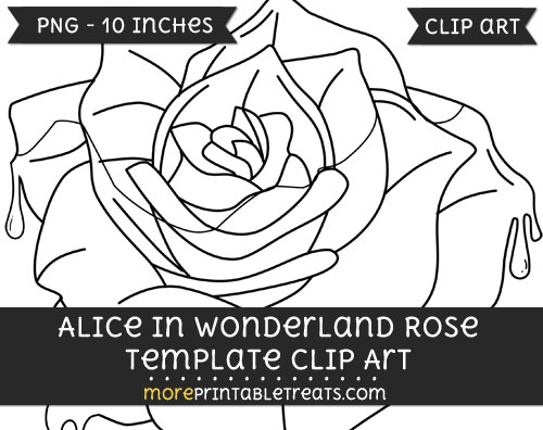 Free Alice In Wonderland Rose Template - Clipart