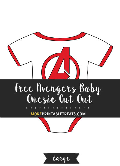 Free Avengers Baby Onesie Cut Out - Large