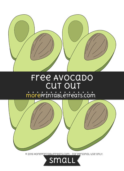 Free Avocado Cut Out -Small