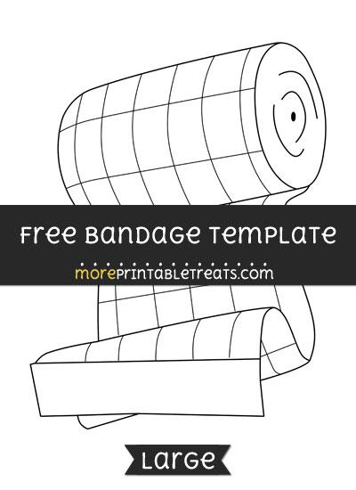 Free Bandage Template - Large