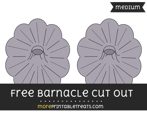 Free Barnacle Cut Out - Medium Size Printable