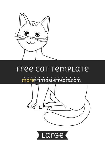 Free Cat Template - Large
