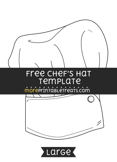Free Chefs Hat Template - Large