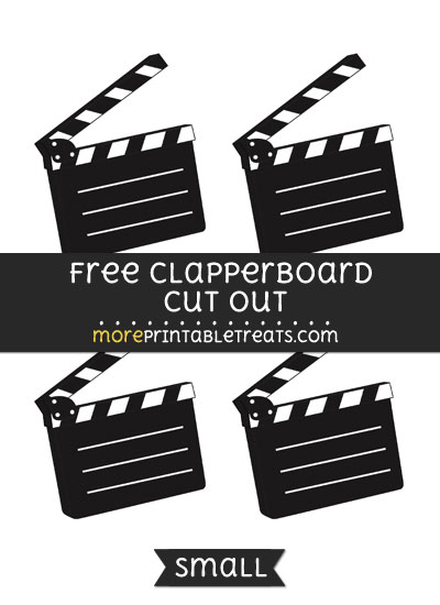 Free Clapperboard Cut Out - Small Size Printable