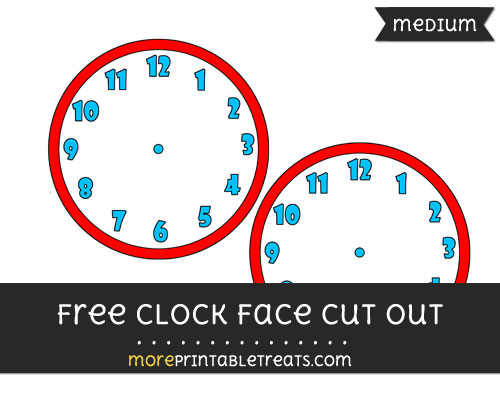 Free Clock Face Cut Out - Medium Size Printable