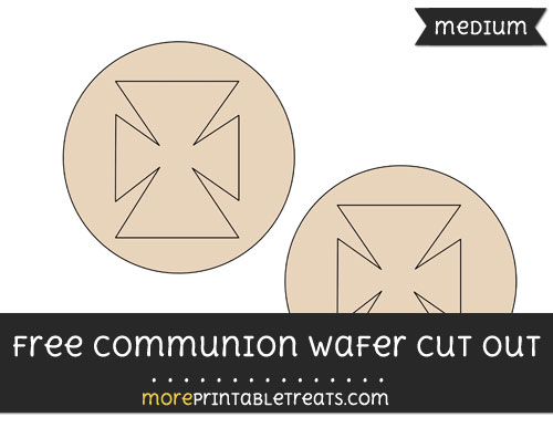 Free Communion Wafer Cut Out - Medium Size Printable