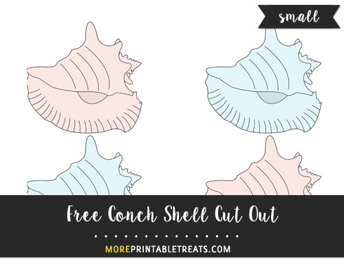 Free Conch Shell Cut Out - Small