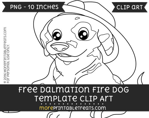 Free Dalmation Fire Dog Template - Clipart