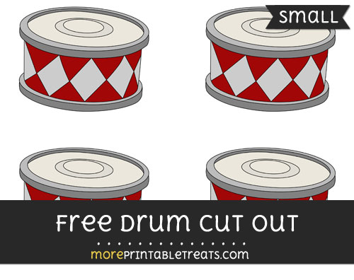 Free Drum Cut Out - Small Size Printable