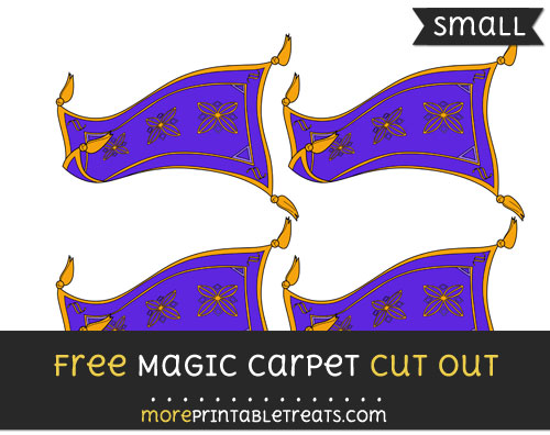 Free Magic Carpet Cut Out - Small Size Printable