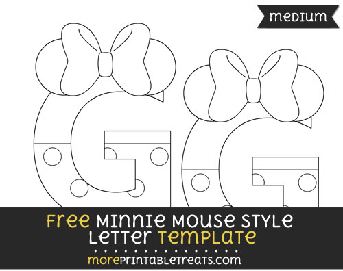Free Minnie Mouse Style Letter G Template - Medium