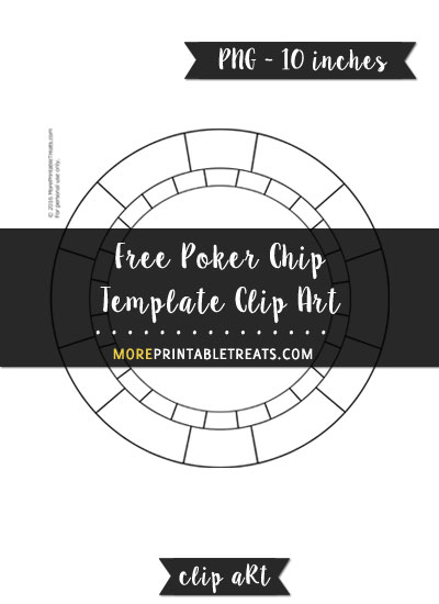 Free Poker Chip Template - Clipart