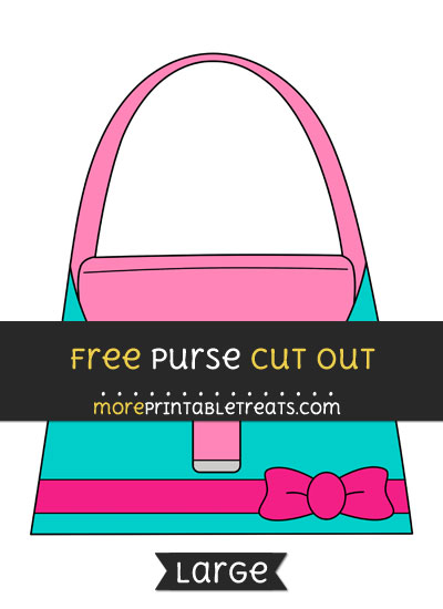 Free Purse Cut Out - Large size printable