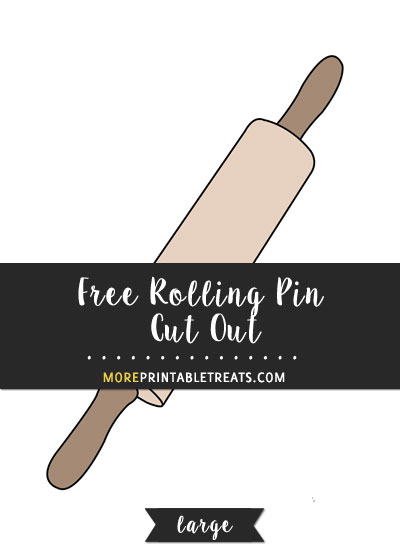 Free Rolling Pin Cut Out - Large