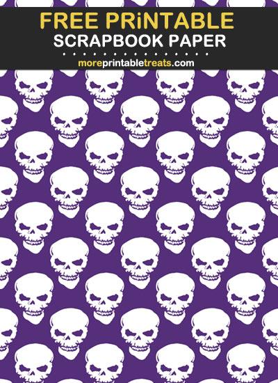 Free Printable Skull Scrapbook Paper