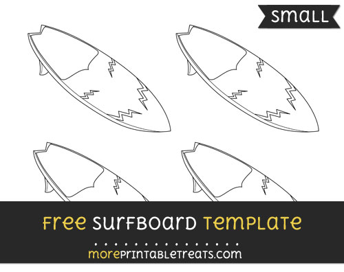 Free Surfboard Template - Small
