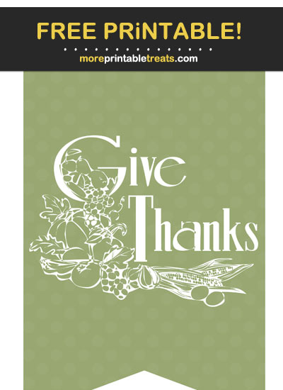 Free Printable Thanksgiving Swallowtail Bunting Banner Cut Out