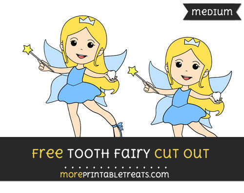 Free Tooth Fairy Cut Out - Medium Size Printable