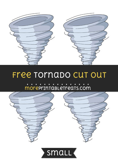 Free Tornado Cut Out - Small Size Printable