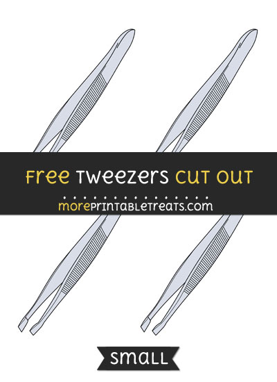 Free Tweezers Cut Out - Small Size Printable